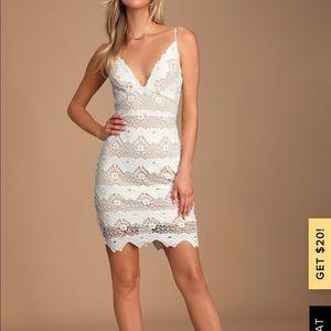 LULUS SWAY AWAY WHITE CROCHET LACE DRESS